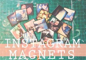 instagram magnet diy title